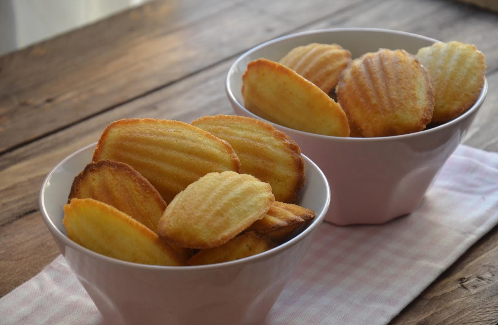 Magdalenas francesas, receta original. 2