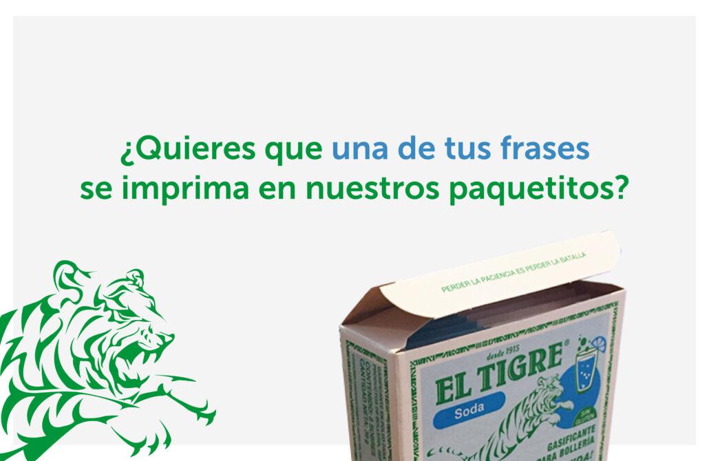 Concurso Pon Tu Frase En Nuestros Paquetes El Tigre