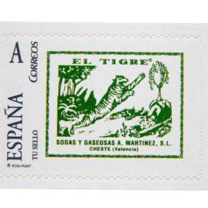 sello 75 aniversario Gaseosa El Tigre